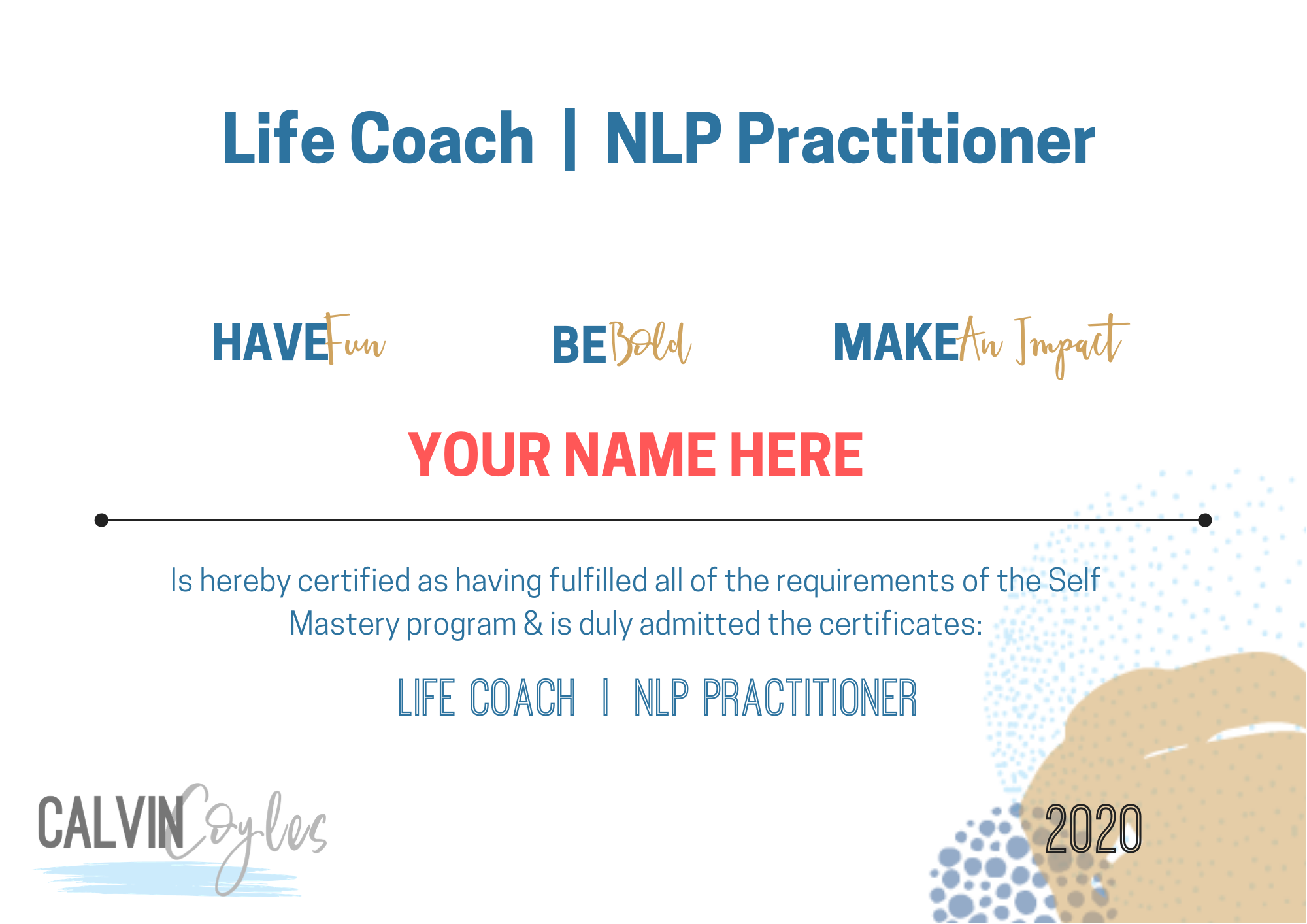 NLP & Life Coaching Certification Scholarships